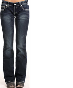 Rock & Roll Cowgirl Women's Low Rise Jean- Style #W0-6651