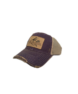 Farm Boy/Farm Girl Retro Art Mesh Cap- Style #W13089787