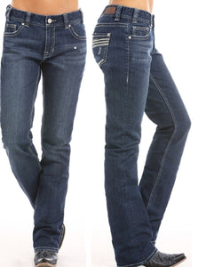 PANHANDLE WOMEN'S ROCK & ROLL COWGIRL BOYFRIEND BOOT CUT JEAN- STYLE #W2-5090