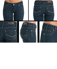 Rock & Roll Cowgirl Women's Dark Wash Boyfriend Jean- Style #W2-9213