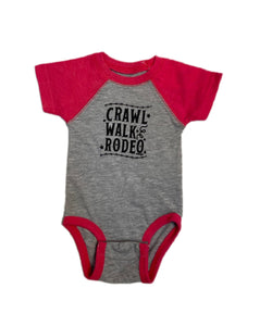 Farm Boy/Farm Girl Infant Crawl Walk Rodeo Onesie- Style #W44308431