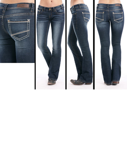 Rock & Roll Cowgirl Women's Rival Boot Cut Jean- Style #W6-7653