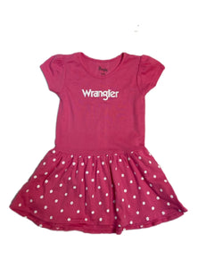 Farm Girl Girls' Wrangler Pink Polka Dot Dress- Style #W63238433