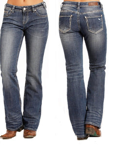 Rock & Roll Cowgirl Women's Riding Jean- Style #W7-4604