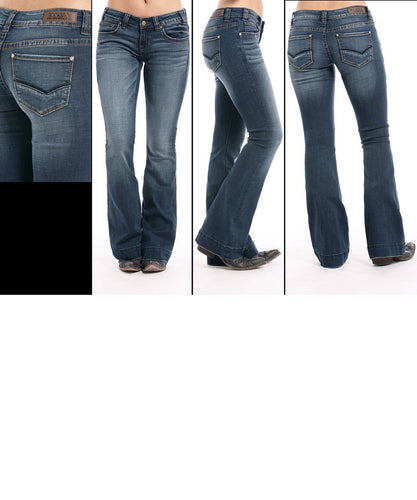 Rock & Roll Cowgirl Women's Extra Stretch Trouser- Style #W8-7683