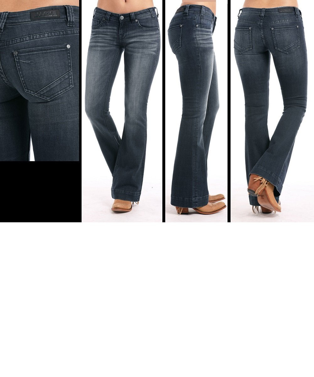 Rock & Roll Cowgirl Women's Basic Pocket Trouser- Style #W8-7685