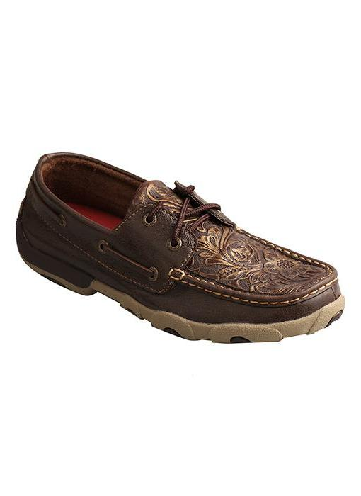 Twisted X Women's Embossed Flower Driving Moc- Style #Wdm0070
