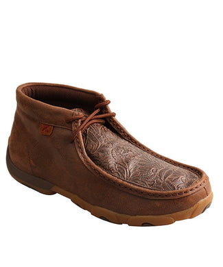 TWISTED X WOMEN'S BROWN PRINT DRIVING MOC- STYLE #WDM0079