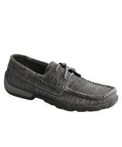 TWISTED X WOMEN'S CHARCOAL DRIVING MOC- STYLE #WDM0102-CHARCOAL