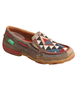 TWISTED X WOMEN'S ECO SLIP-ON DRIVING MOCCASINS - STYLE #WDMS011