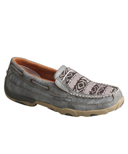 TWISTED X WOMEN'S GRAY SLIP ON DRIVING MOC- STYLE #WDMS012-GRAY