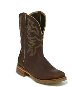Justin Men's Marshal Whiskey Neat Brown Work Boot- Style #- WK4201