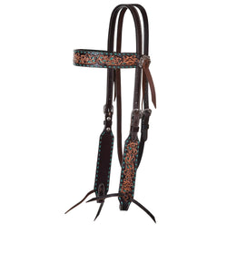 Reinsman Filigree Browband Inlay And Buckstitch Headstall- Style #X0224-4001