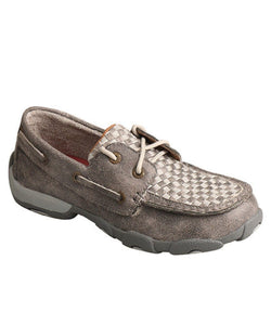 TWISTED X KIDS' GRAY DRIVING MOC- STYLE #YDM0039