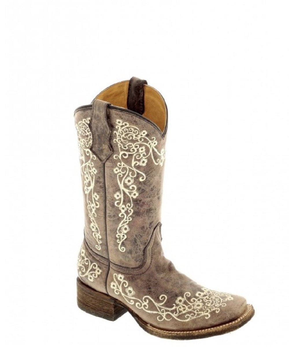 Corral Women's Brown Crater Square Toe Boot- Style #A2663