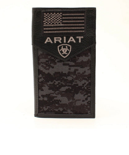 M&F Western Ariat Camo Flag Rodeo Wallet- Style #A3536401