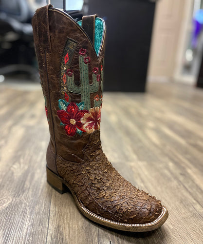 Corral Women's Brown Fish Embroidered Boot- Style #A3912