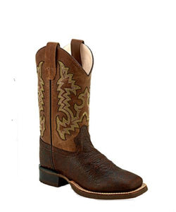 Old West Kids' Broad Square Toe Boot- Style #BSY1895