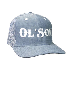 Rodeo Time Dale Brisby Ol' Son Light Denim Paisley Cap- Style #C108