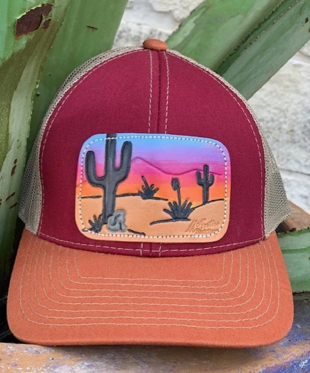 Mcintire Saddlery Women's Sunset Cap- Style #CAP-31