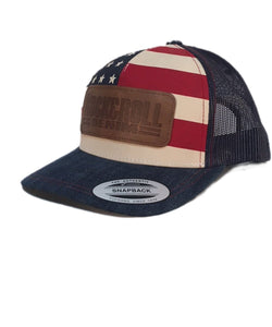 ROCK AND ROLL DENIM FLAG PRINT BALL CAP- STYLE  CBC6753 - 45 BLUE –  Cowpokes Work   Western f1e7df9fa7a