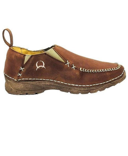 CINCH MEN'S CASUAL SLIP-ON LEATHER MOC SHOE- STYLE #CCM3008