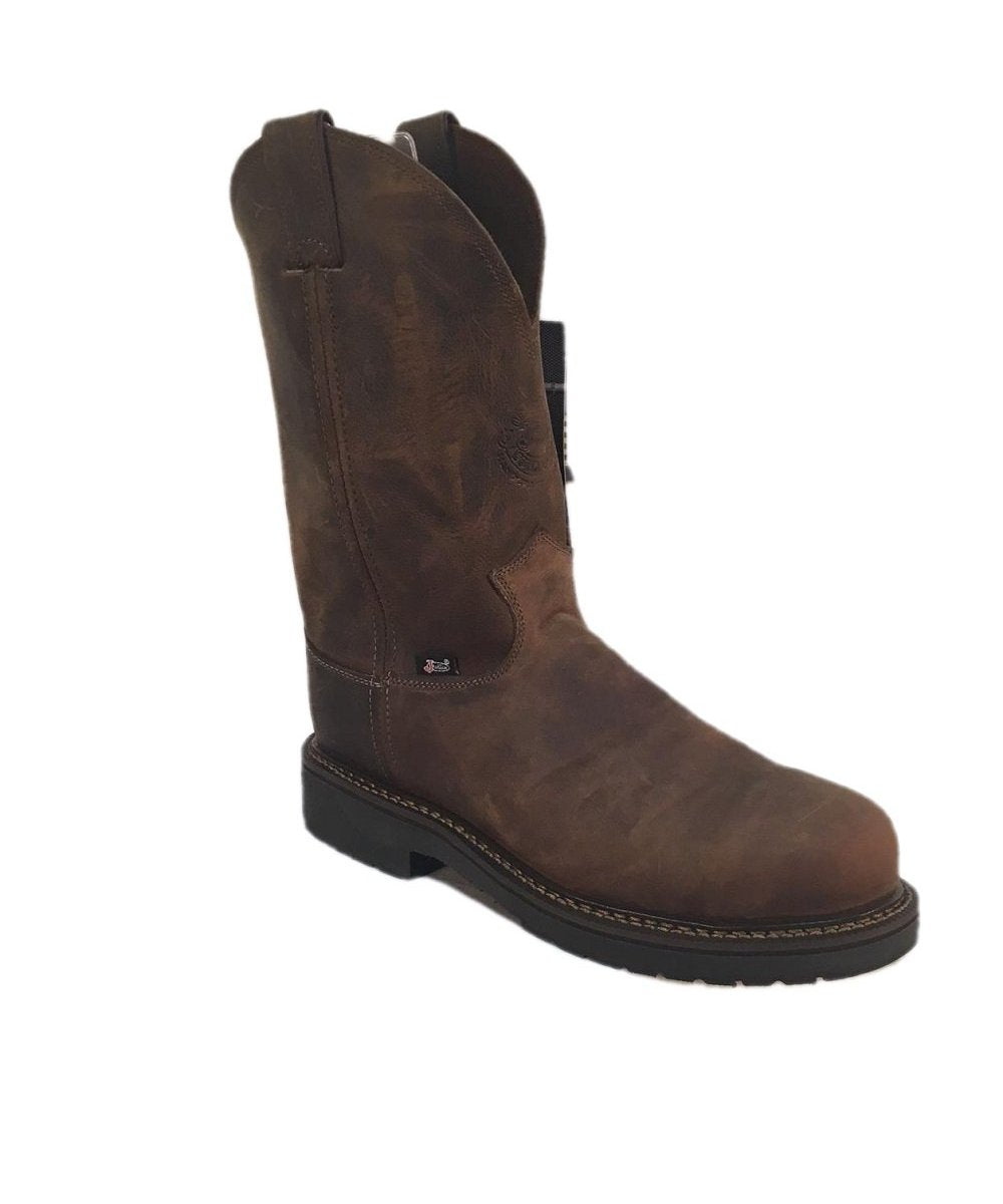 JUSTIN MEN'S STEEL TOE RUGGED BAY GAUCHO BOOT- STYLE #CD4445