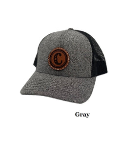 Brandin' Iron Leather Patch Ballcap- Style #COWPOKESPATCHCENTER