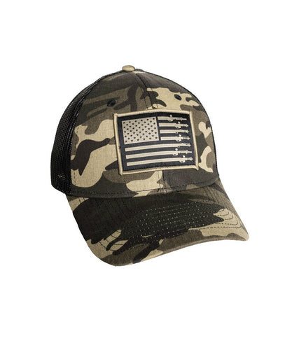 Affliction Clothing Howitzer Inc. Forged In Freedom Camo Cap- Style #CV825