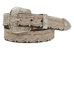 M&F Western Girls' Angel Ranch Tan Lace Belt- Style #DA3652
