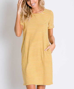 Cowpokes Bootique Women's Davi & Dani Striped Dress- Style #DD41774