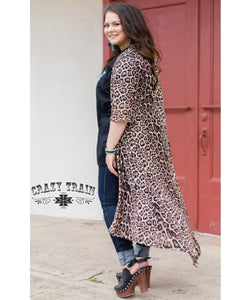 Crazy Train Women's Cheetah Print Dixie Duster- Style #DIXIEDUSTER