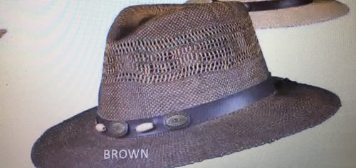 DORFMAN PACIFIC TWO TONE STRAW HAT- STYLE #MS311OS