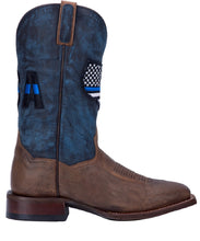 Bota del dedo del pie de Dan Post Men's Thin Blue Line USA Square - estilo #DP4515