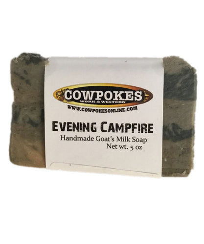 COWPOKES FORTE HANDMADE GOAT'S MILK SOAP EVENING CAMPFIRE - STYLE #EVENING CAMPFIRE