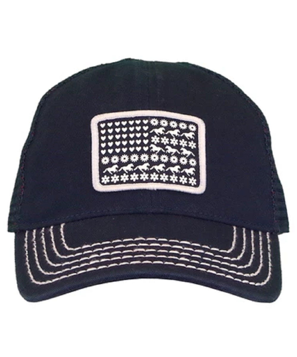 Farm Girl Girls' Toddler Flag Mesh Cap- Style #F83088377