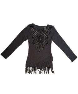 Crazy Cowboy Girls' Long Sleeve Embellished Dream Catcher Shirt- Style #G-1811