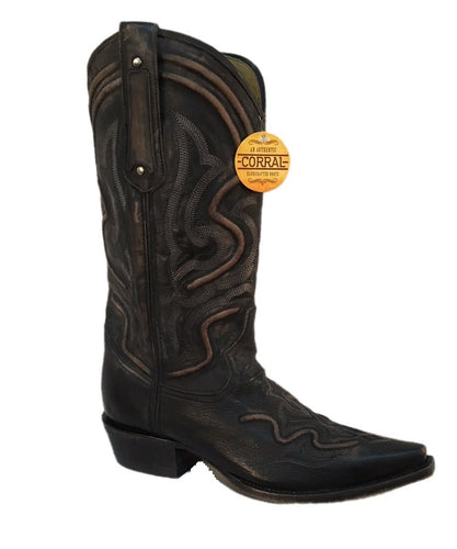 CORRAL MEN'S GRAY SNIP TOE BOOT- STYLE #G1384