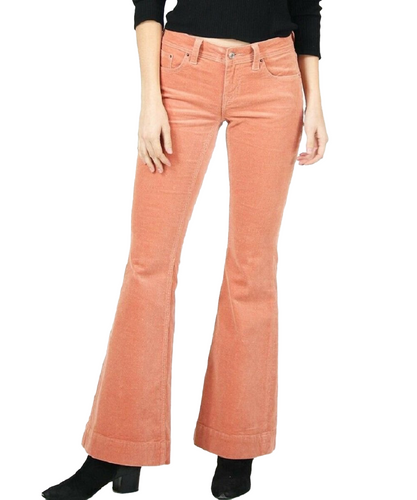Grace In LA Women's Coral Corduroy Trousers- Style #EL9405