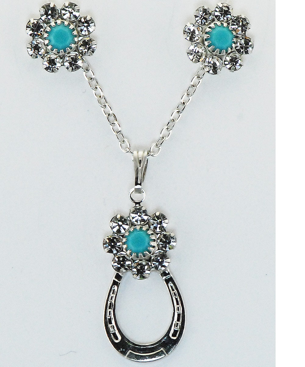 Finishing Touch Of Kentucky Women's Crystal & Turquoise Horse She Set- Style #HGS470