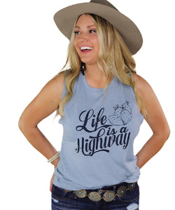 Ali Dee Women's Life Is A Highway Tank- Style #HIGHWAYTANK