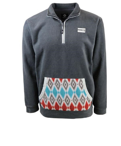 Hooey Men's Charcoal Pullover- Style #HJ066CH