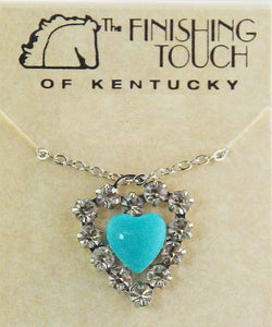Finishing Touch Of Kentucky Women's Swarovski Heart Necklace- Style #HNE456