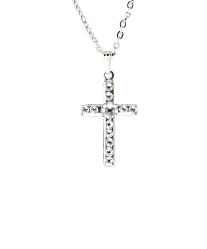 Finishing Touch Of Kentucky Swarovski Cross Necklace- Style #HNE480
