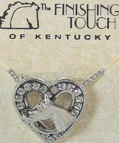 FINISHING TOUCH OF KENTUCKY WOMEN'S HEART AND HORSE NECKLACE- STYLE #HNE582