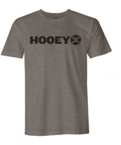 Hooey Youth Gray Lock Up Logo Tee- Style #HT1407GY-Y