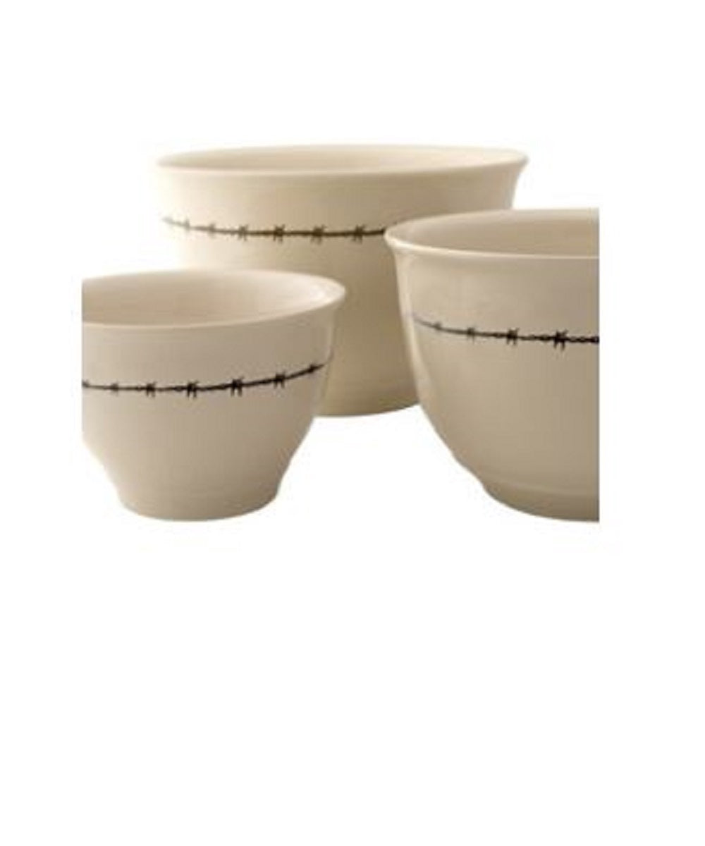 Moss Brothers Barbed Wire Mixing Bowl Set- Style #HW-9209