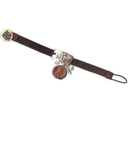 JANE MARIE WOMEN'S LEATHER THEME PLATE TOGGLE BRACELET- STYLE #JM6076B-BEE