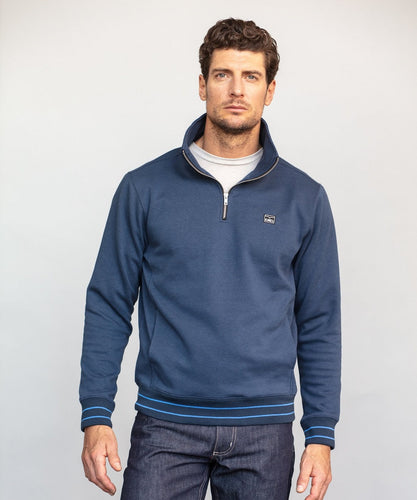 Kimes Ranch Men's Knicks Quarter Zip Navy Blue Pullover- Style #KNICKSZIPFLEECENAVY