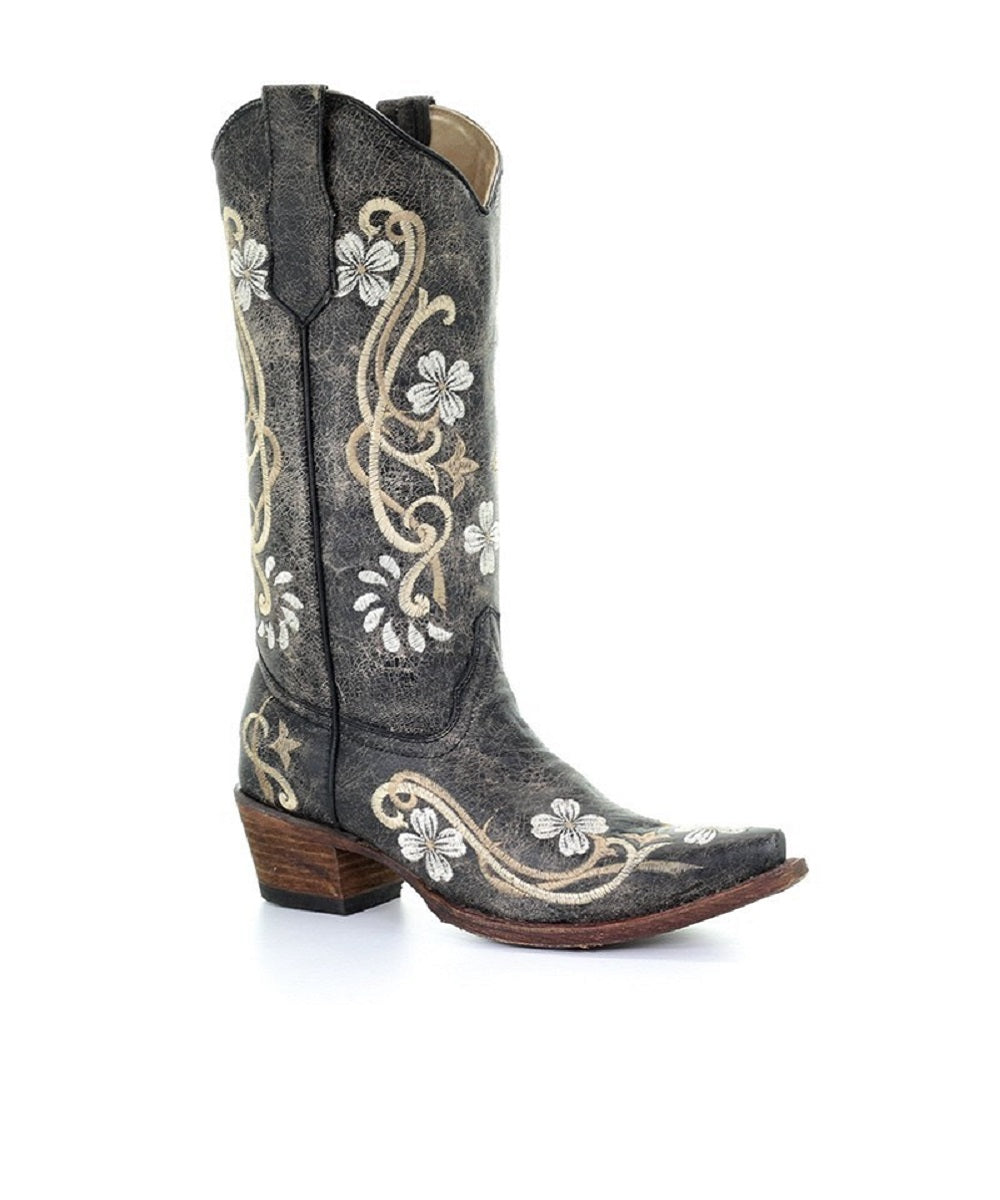 Corral Women's Circle G Floral Embroidered Boot- Style #L5175